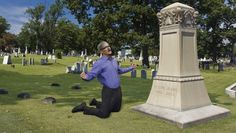 Weeping Tim Cook Spotted Screaming For Help At Steve Jobs' Tombstone | Full report at theonion.com