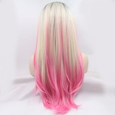 Hot-Sale-Fashion-Glueless-Lace-Front-Wigs-Hair-Gradient-Black-Blonde-Pink-Ombre-Color-Silk-Straight.jpg 800×800 pixels