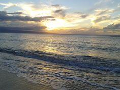 beach sunset in Maui, Hawaii