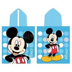 Toalla Capucha Mickey Blue Dots - Bazartextil.com