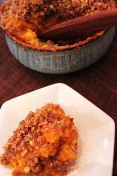 Butternut Squash Casserole (with Streusel Topping)