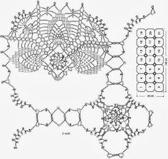 Crochet Art: Crochet Patterns Of Lace Tablecloth - Gorgeous