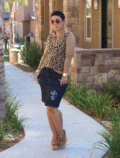 DIY Distressed Denim Skirt + Pattern Review - Mimi G Style