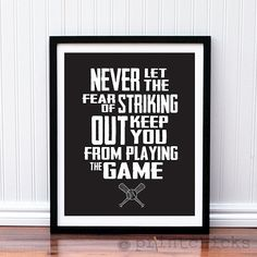 Baseball Print - Custom Baseball Quote Poster - Boys Room Decor - Baseball Art on Etsy, $18.00