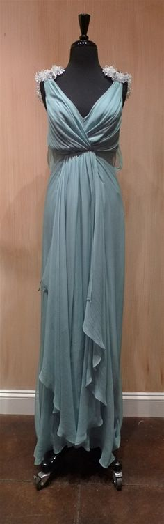Jenny Packham Blue Dove Silk Gown