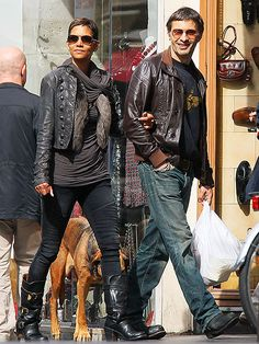 Love Halle's short hair and edgy style.