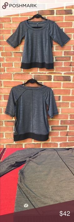 Lululemon top This soft, comfortable, loose fitting Lululemon top has vent openings under arms and sides for added airflow --elbow length sleeves. This design has a mesh band at the base. I cut the scratchy, pesky tag off the garment ...for you 😅...lululemon bag included! Excellent condition! lululemon athletica Tops Tees - Short Sleeve