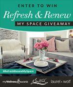 I just entered to win @SpaWeek's #RefreshRenewMySpace Giveaway