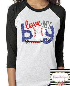 Love my boy womens baseball shirts baseball mom by TexanaBoutique