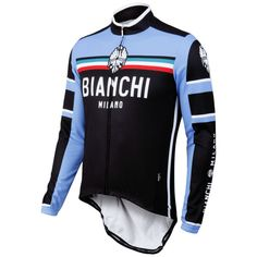 Buy Bianchi Men's Bivona Performance Long Sleeve Jersey - Black here at ProBikeKit CA. We have great prices on bikes, components and clothing, with free delivery available! Cycling Wear, Cycling Jerseys, Cycling Outfit, Cycling Clothes, Bike Seat Cover, Pro Bike, Bike Shirts, Jersey Shirt, Sport Bikes