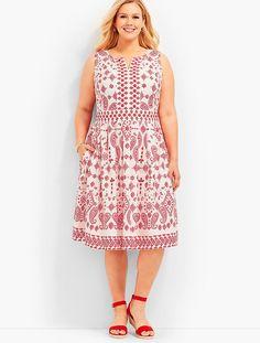 025b740183d1 Bandana Paisley Fit-And-Flare Dress