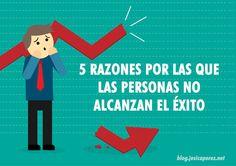 Buenos dias. #felizsabado . Si te has preguntado porque siempre fracasas, aquí te doy 5 razones  por las que las personas no alcanzan el éxito.  http://jesicaperez.net