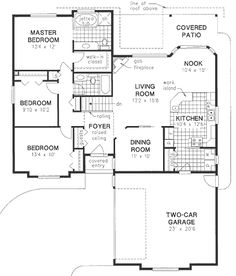 Plan No.131259 House Plans by WestHomePlanners.com under1500 THIS :)