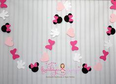 De color rosa Minnie Mouse Garland 12 pies Minnie Mouse