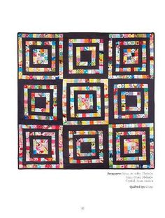 scrappy quilt, like this but use white in place of the black fabric.