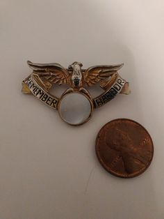 Vintage WWII Remember Pearl Harbor Staret Brooch Pin