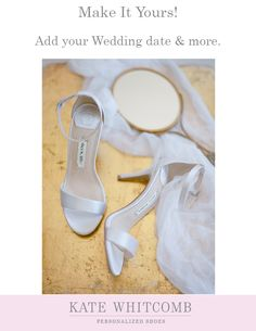 3949c96591 Simple and elegant ivory wedding sandals •Wedding Shoes •Ivory shoe for  bride •Bridal