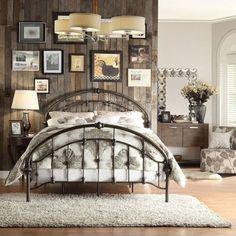 Oval rod iron bed king metal bed, metal beds, deco tape, victorian irons, l Black Queen Bed Frame, Full Bed Frame, Vintage Bedroom Styles, Vintage Bedroom Decor, Vintage Style, Vintage Room, Vintage Bedrooms, Bedroom Rustic, Bedroom Modern