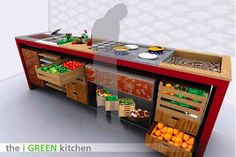 Designing a kitchen without a fridge- I'd like to use some of these ideas, but still have a small fridge.