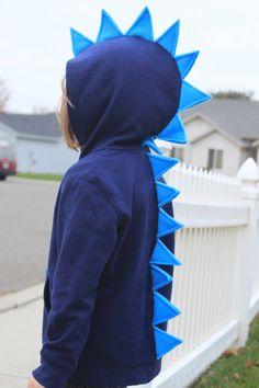Capretto alla moda bambino & neonato dinosauro drago mostro Spike Hoodie regalo Idea Costume Dress-up