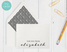 Personalized/Custom Boxed TINY/MINI Cards by DenaMariaPapers