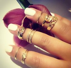 Mid rings from LoveMuse. I love these type of rings!