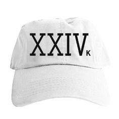 9e37580ca2e2f The Bruno Mars Magic Hat features roman numerals embroidered in black on  the front of a white cap with a rounded brim.