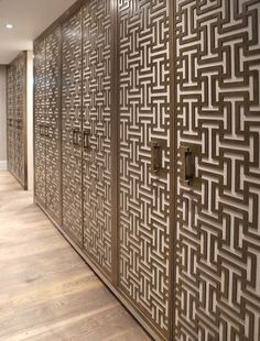 A multi-disciplinary Architectural products supplier, specialising in semi-precious metal coatings, bespoke feature glass pieces and revolutionary concrete coatings. Decorative Screens, Decorative Items, Langham Hotel, Concrete Coatings, Metal Screen, Axolotl, Types Of Doors, Building A House, Mid Century