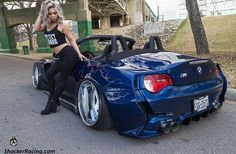 08' #BMW_Z4M #Vert #Convertible #Modified #WideBody #Custom #Slammed #Stance #AutoGirls