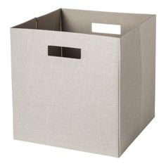 Threshold Storage Bin - Natural (075381044363) Storage bin folds flat for easy storage cut-out handles compatible with threshold cube organizers.