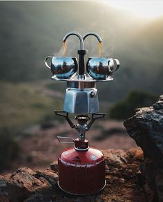 Great Gift - Outdoor Coffee Goals with the Bialetti Mini Express! Shop Gifts @baristadaily Link in Bio  TAG a Friend   by @riaanvanniekerk