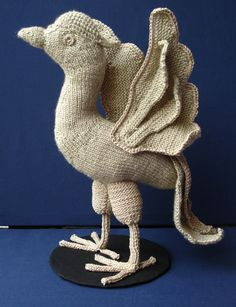 Ildiko textile art - Textiles A knitted, crochet Liver Bird! Crochet Humor, Knit Crochet, Textile Fiber Art, Liverpool, Knits, Dinosaur Stuffed Animal, Projects To Try, Creativity, Textiles