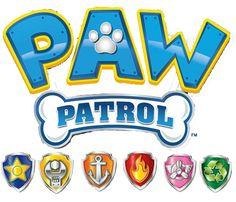 logo-paw-patrol-logo-patrulla-canina-patrulla-de-cachorros Insignia De Paw Patrol, Paw Patrol Badge, Paw Patrol Party, Paw Patrol Birthday, Paw Patrol Rocky, Happy 2nd Birthday, Birthday Diy, Birthday Images, Umbrella Decorations