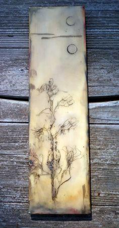 Encaustic on wood www.kathievezzani.com: