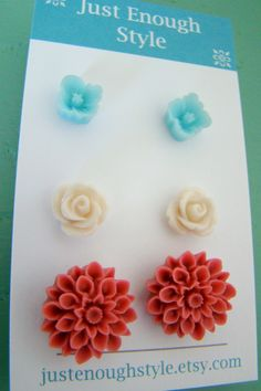 Just Enough Style: Cute Earring Sets only $8