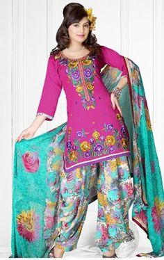 Casual Patiala Salwar Kameez Fashion 2014. #patialasalwarkameez, #pakistanisalwarkameez, #designersalwarkameez, #salwarkameez, #shalwarkameez #pakistanifashion, #indianfashion