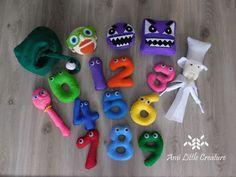 Ami Little Creature: SEWING Numberjacks - templates + children play scenario   Supercyfry - wzór + opis zabawy Crochet Shark, Baby Shark Doo Doo, 2 Kind, Blue Shark, Baby Yellow, Baby Body, Bold Prints, Betta, Triangles