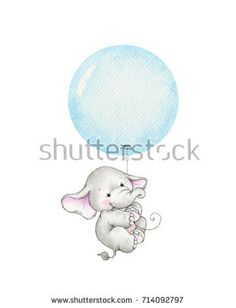 Find Cute Elephant Flying On Blue Balloon stock images in HD and millions of other royalty-free stock photos, illustrations and vectors in the Shutterstock collection. Elephant Balloon, Elephant Art, Cute Elephant, Teddy Bear Tattoos, Balloon Clipart, Blue Balloons, Baby Shower Invitations For Boys, Cute Illustration, Cute Animals
