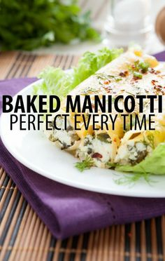 Want to try a warm and gooey pasta meal? Check out Mario Batali's Baked Manicotti Recipe, which he shared with actress and author Rosie Perez on The Chew. http://www.recapo.com/the-chew/the-chew-recipes/chew-mario-batali-baked-manicotti-recipe-rosie-perez-memoir/