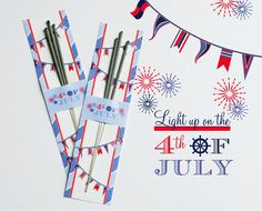 Free Printable Sparkler Holder for 4th of July