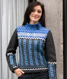 Athabasca by Fiona Ellis. Pretty patterning at home on city streets or ski slopes. $7.00 US
