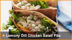 Lemony Dill Chicken Salad Pita - The Daniel Plan