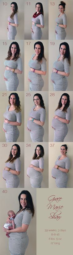 It's actually super hard when you're pregnant, tired, and huge to put on the same dress and do your hair and makeup every other week to snap a photo. But it didn't come out too bad. My pregnancy week-by-week.