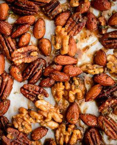 A delicious, savory-sweet cocktail party nibble—and EASY to boot! Simply toss your favorite mixed nuts with maple syrup, butter, fresh herbs and a hint of cayenne. Then roast!
