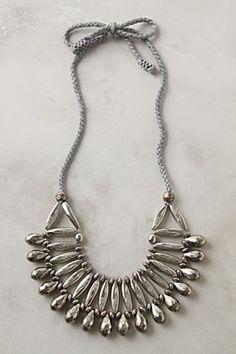 Bib necklaces are fun.