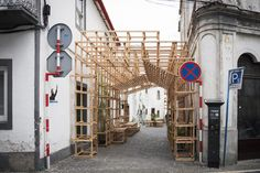 Gallery of Orizzontale Activates the Street with Wooden Intervention in the Azores Islands - 6