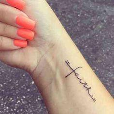 Word Tattoos On Arm, Wrist Tattoos For Women, Small Wrist Tattoos, God Tattoos, Faith Tattoos, Weird Tattoos, Tattoo Small, Music Tattoos, Word Tattoo Wrist