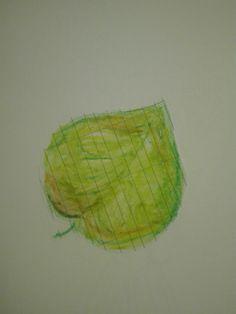 Disegno a pastelli a cera. Una foglia mossa dal vento che cade nei suoi immensi colori.       Grazie