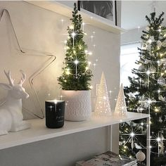 """6,163 Likes, 76 Comments - Nina Larsson Mansoori (@interior_by_nina) on Instagram: """"Morning! ✨ I continue with some Christmas inspiration for you guys. My home last year Have a…"""""""