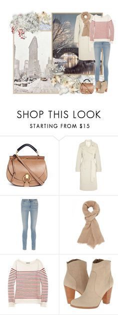 """""""Winter with a white coat"""" by asia-12 ❤ liked on Polyvore featuring Chloé, Donna Karan, Alexander Wang, Charlotte Russe, Tommy Hilfiger, Joie and Winter"""